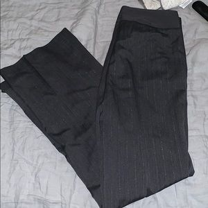 nydj grey striped straight leg pants